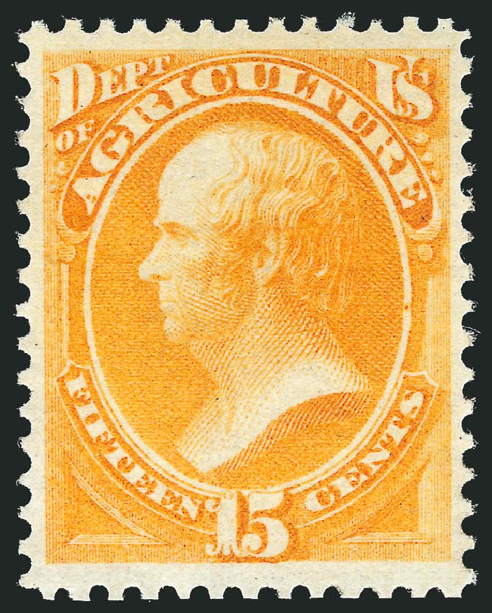 Costs of US Stamp Scott Cat. #O7: 15c 1873 Agriculture Official. Robert Siegel Auction Galleries, Nov 2013, Sale 1061, Lot 4147