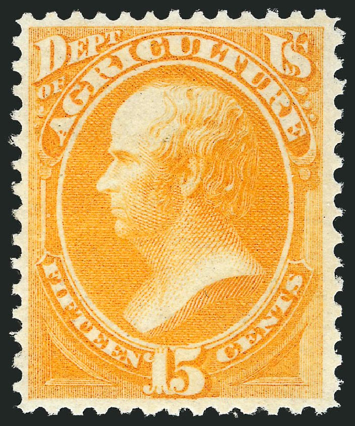 Price of US Stamp Scott Catalogue # O7 - 15c 1873 Agriculture Official. Robert Siegel Auction Galleries, Oct 2012, Sale 1033, Lot 4300