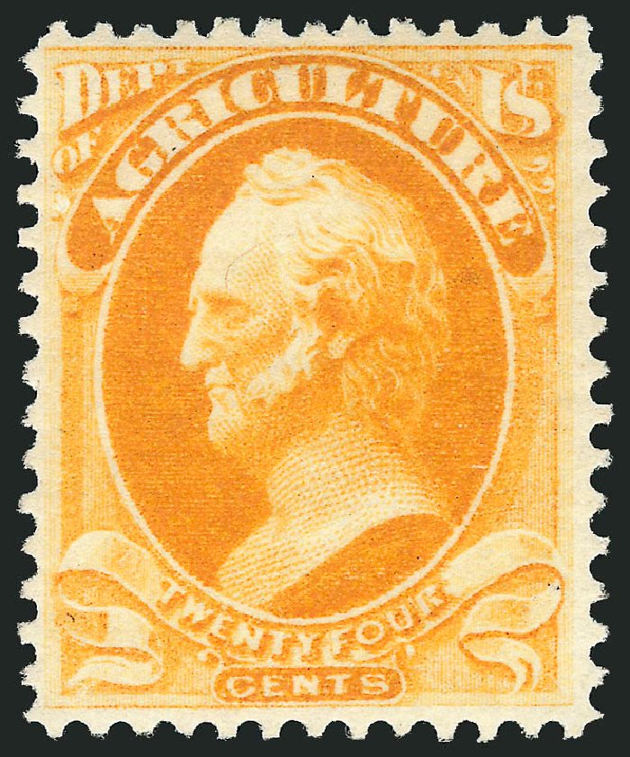 Prices of US Stamps Scott Catalog O7 - 1873 15c Agriculture Official. Robert Siegel Auction Galleries, Feb 2015, Sale 1092, Lot 1450