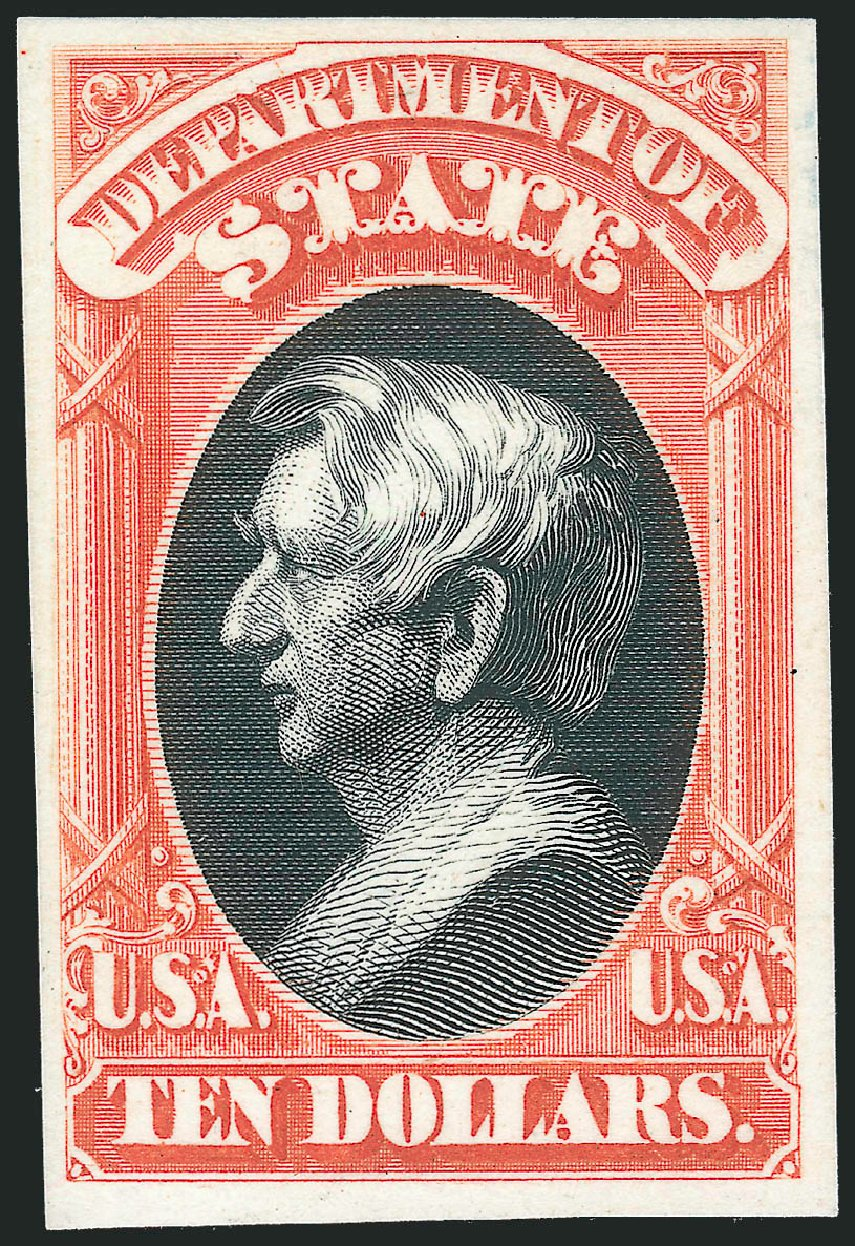 Price of US Stamps Scott Cat. #O70: 1873 US$10.00 State Official. Robert Siegel Auction Galleries, Oct 2014, Sale 1082, Lot 250