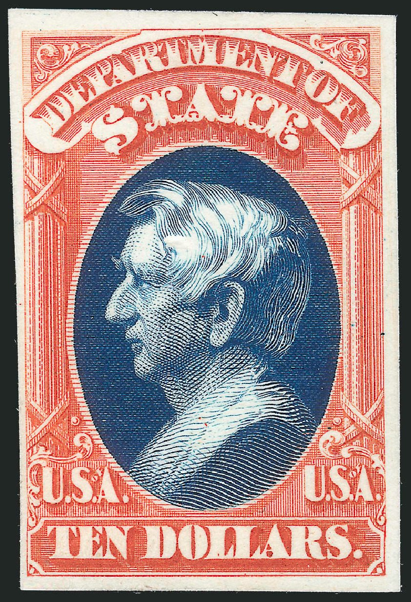 US Stamps Value Scott Cat. #O70: 1873 US$10.00 State Official. Robert Siegel Auction Galleries, Oct 2014, Sale 1082, Lot 251