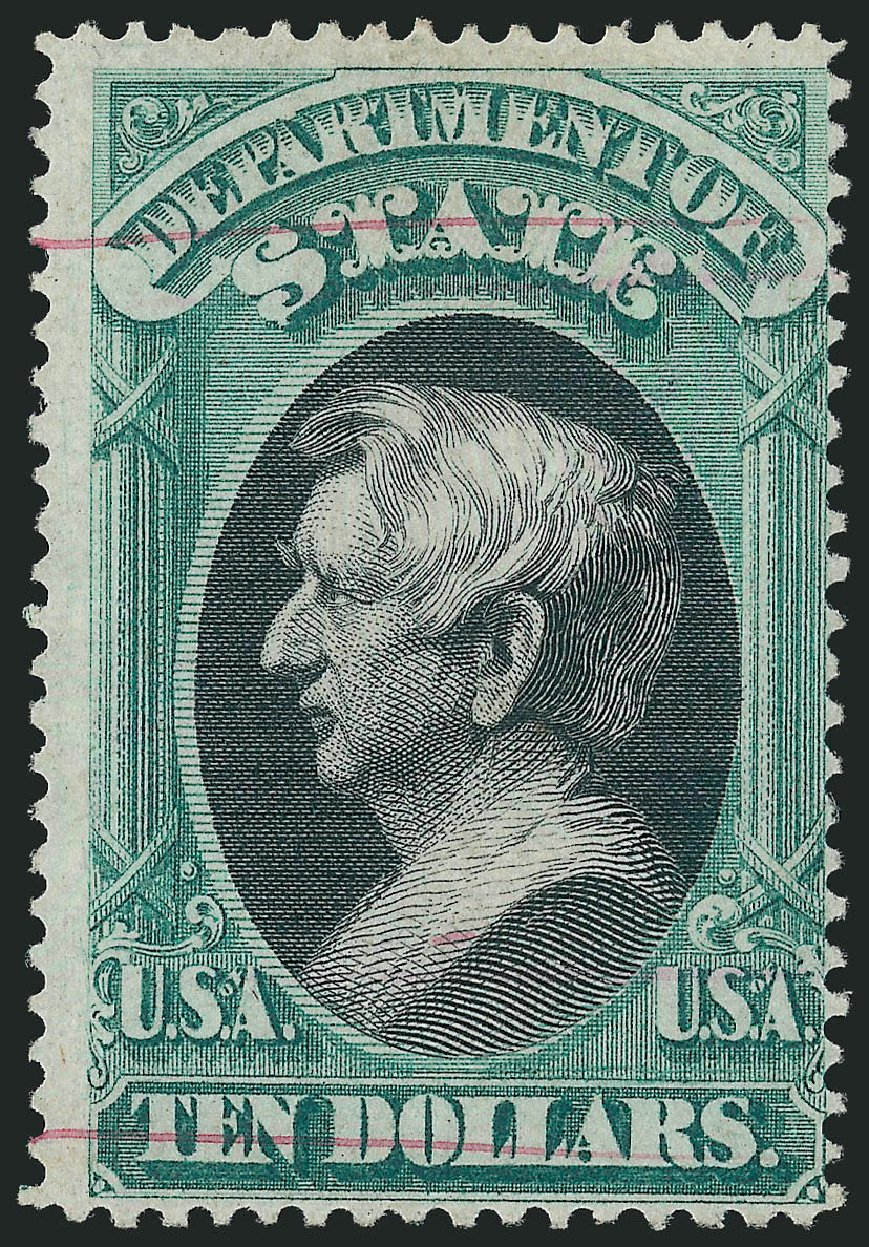 US Stamps Price Scott # O70 - 1873 US$10.00 State Official. Robert Siegel Auction Galleries, Dec 2014, Sale 1090, Lot 1672