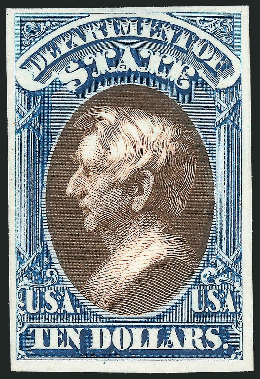 Costs of US Stamps Scott Cat. # O70: US$10.00 1873 State Official. Robert Siegel Auction Galleries, Oct 2014, Sale 1082, Lot 256
