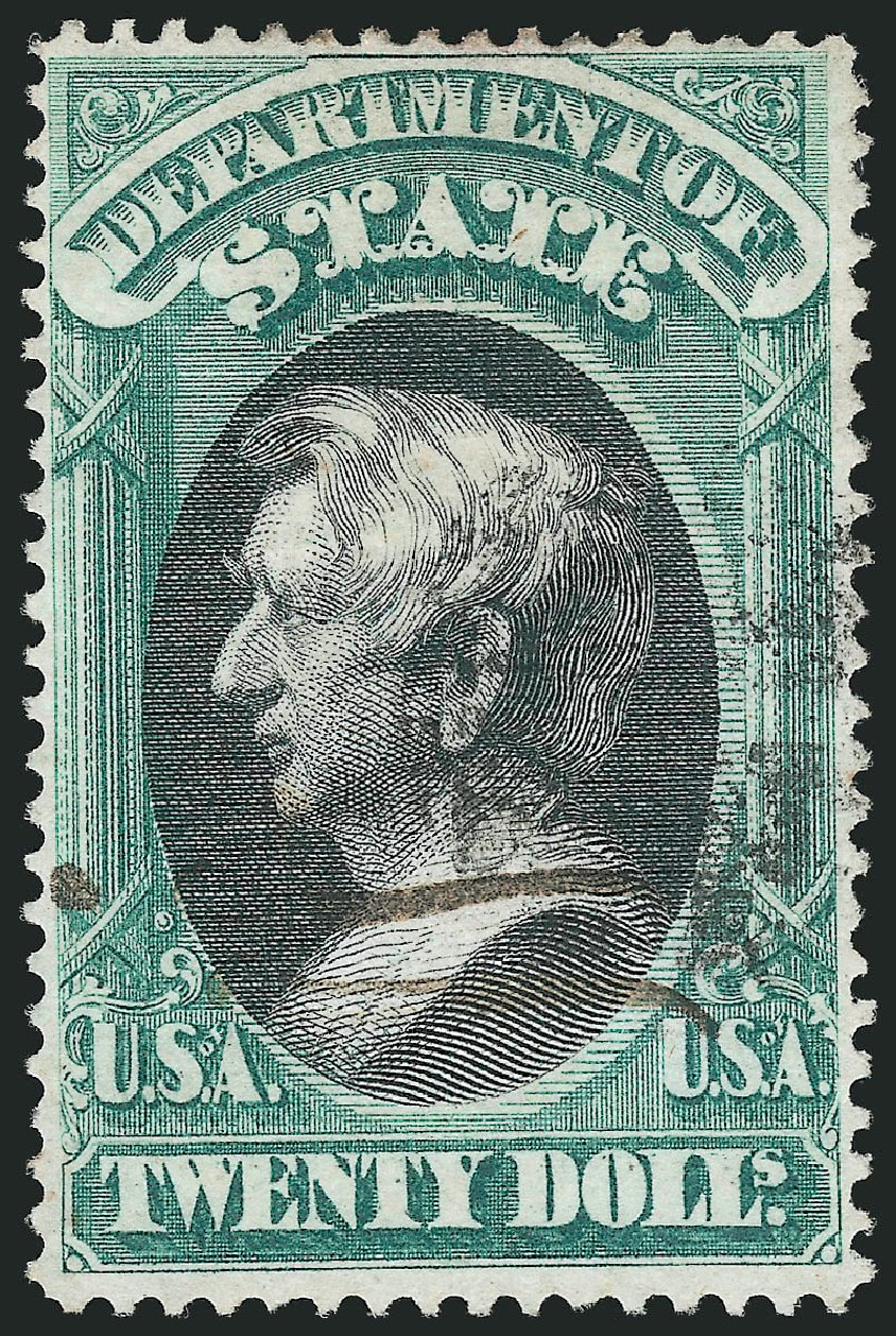 Price of US Stamps Scott O71 - US$20.00 1873 State Official. Robert Siegel Auction Galleries, Nov 2014, Sale 1085, Lot 4108
