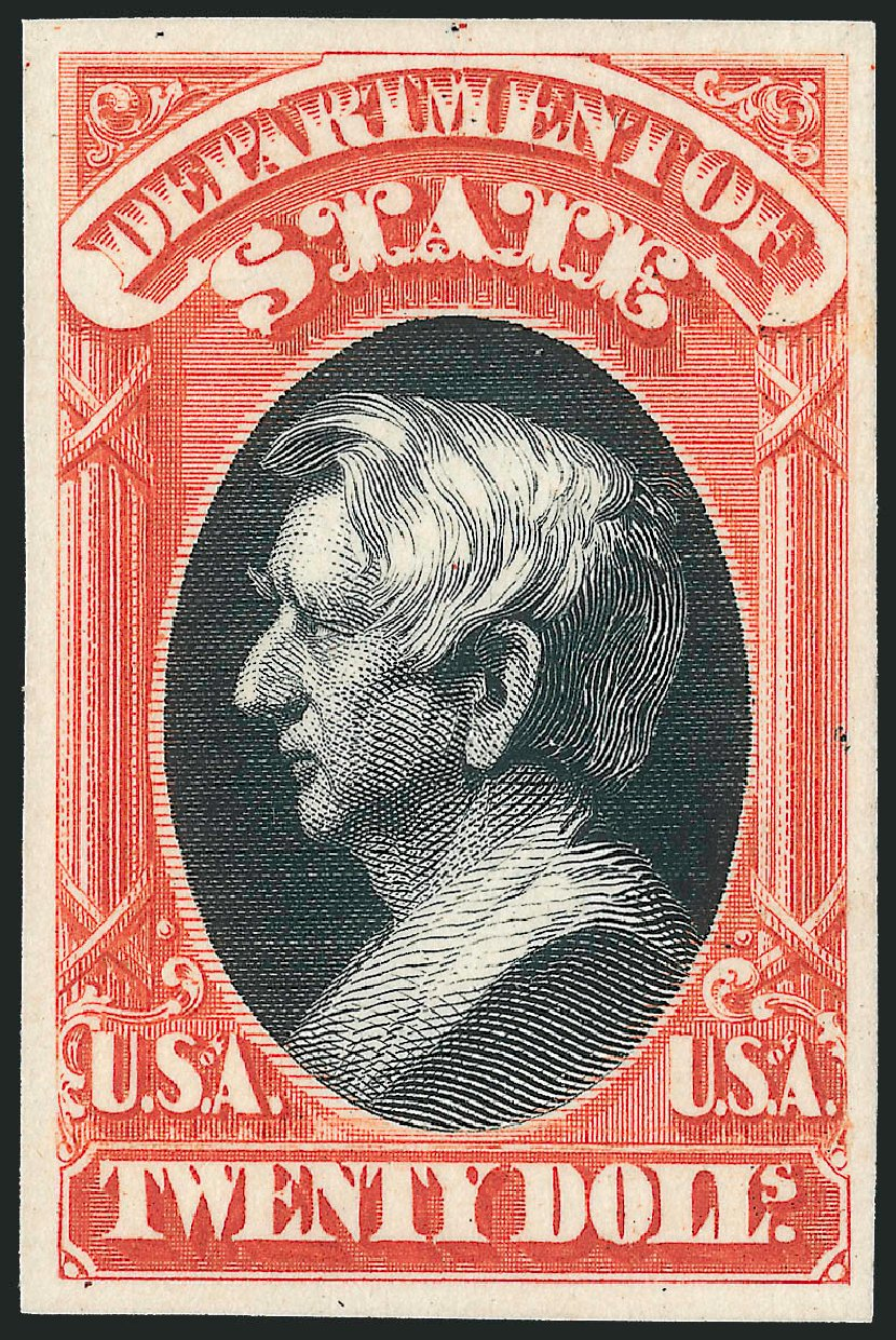 US Stamps Value Scott Catalog O71 - 1873 US$20.00 State Official. Robert Siegel Auction Galleries, Oct 2014, Sale 1082, Lot 259
