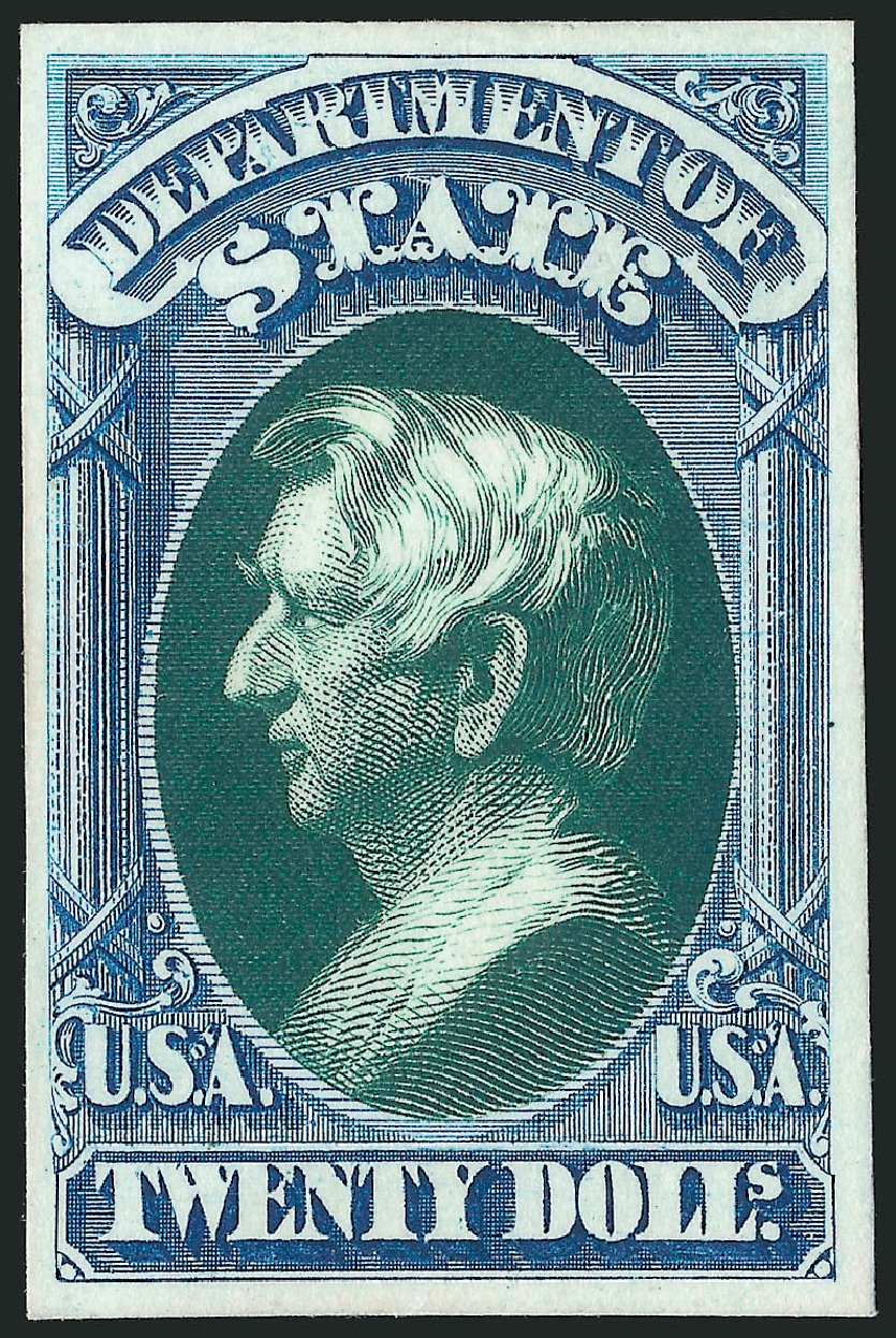 US Stamps Prices Scott Catalogue O71: US$20.00 1873 State Official. Robert Siegel Auction Galleries, Oct 2014, Sale 1082, Lot 265