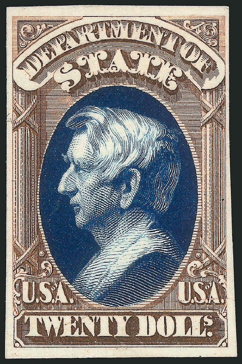 Cost of US Stamps Scott #O71 - 1873 US$20.00 State Official. Robert Siegel Auction Galleries, Oct 2014, Sale 1082, Lot 262