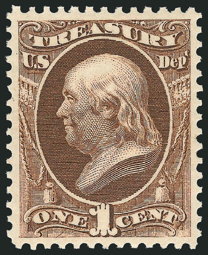 Cost of US Stamps Scott Cat. # O72: 1c 1873 Treasury Official. Robert Siegel Auction Galleries, Jun 2012, Sale 1026, Lot 1545