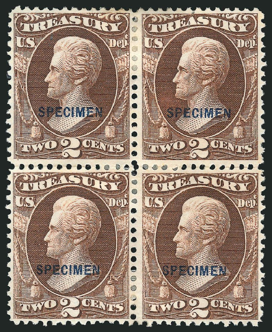 US Stamps Price Scott Catalog # O73: 2c 1873 Treasury Official. Robert Siegel Auction Galleries, Mar 2015, Sale 1095, Lot 641