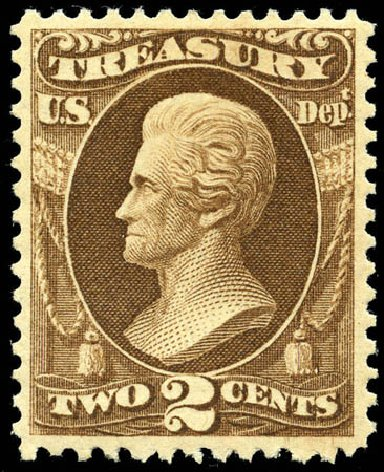 US Stamps Prices Scott Catalogue #O73: 2c 1873 Treasury Official. Matthew Bennett International, Jun 2008, Sale 328, Lot 1245