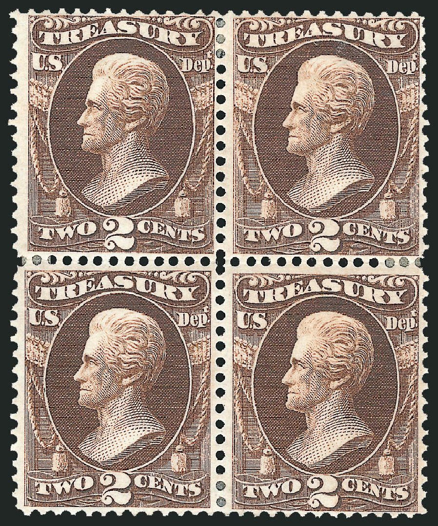Prices of US Stamps Scott Catalog #O73: 1873 2c Treasury Official. Robert Siegel Auction Galleries, Sep 2014, Sale 1078, Lot 665
