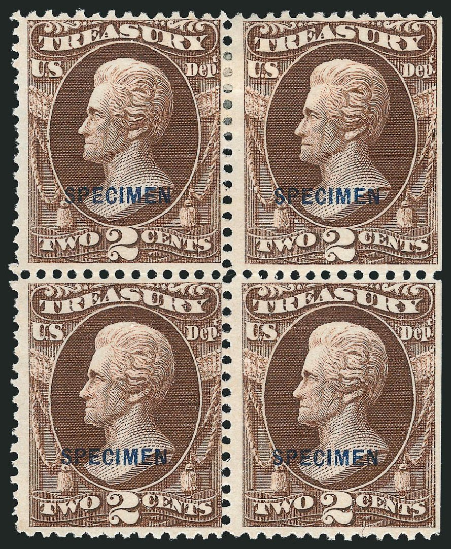 Costs of US Stamp Scott Catalog #O73 - 2c 1873 Treasury Official. Robert Siegel Auction Galleries, Mar 2015, Sale 1095, Lot 642
