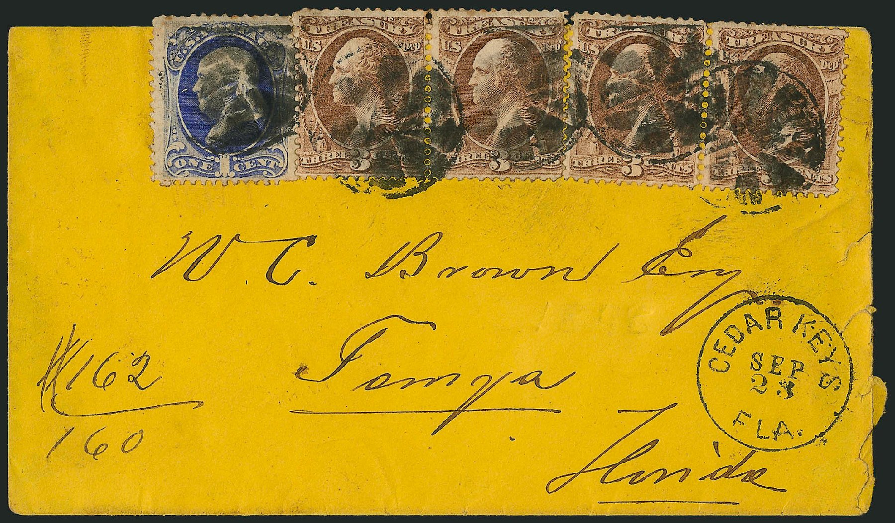 Cost of US Stamp Scott Catalog # O74: 1873 3c Treasury Official. Robert Siegel Auction Galleries, Nov 2014, Sale 1085, Lot 4138