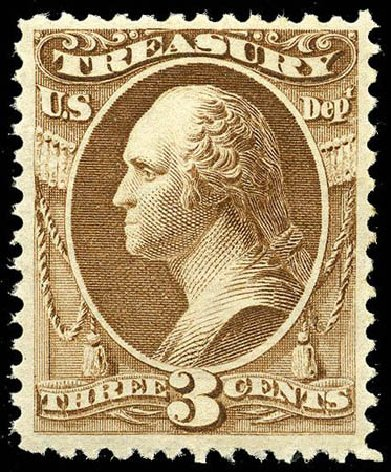 Price of US Stamps Scott Catalog #O74: 3c 1873 Treasury Official. Matthew Bennett International, Apr 2008, Sale 326, Lot 695