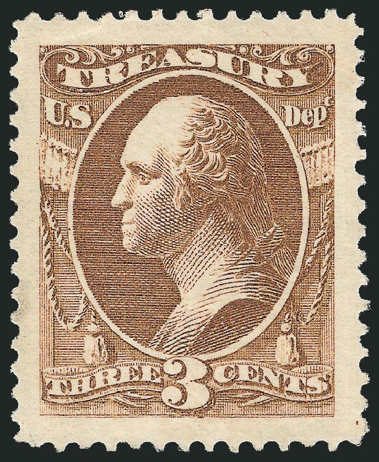 US Stamp Price Scott Catalog O74 - 3c 1873 Treasury Official. Robert Siegel Auction Galleries, Jun 2015, Sale 1100, Lot 95