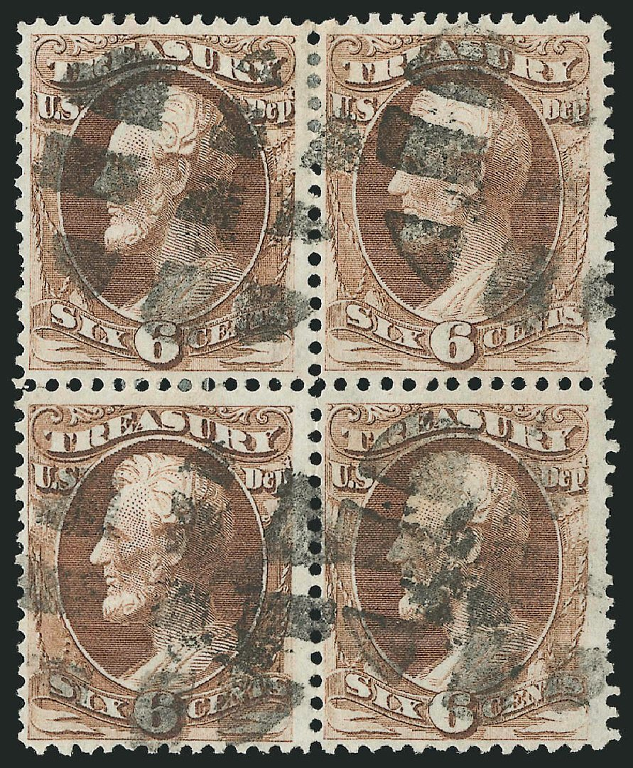 Price of US Stamp Scott # O75: 6c 1873 Treasury Official. Robert Siegel Auction Galleries, Nov 2014, Sale 1085, Lot 4119