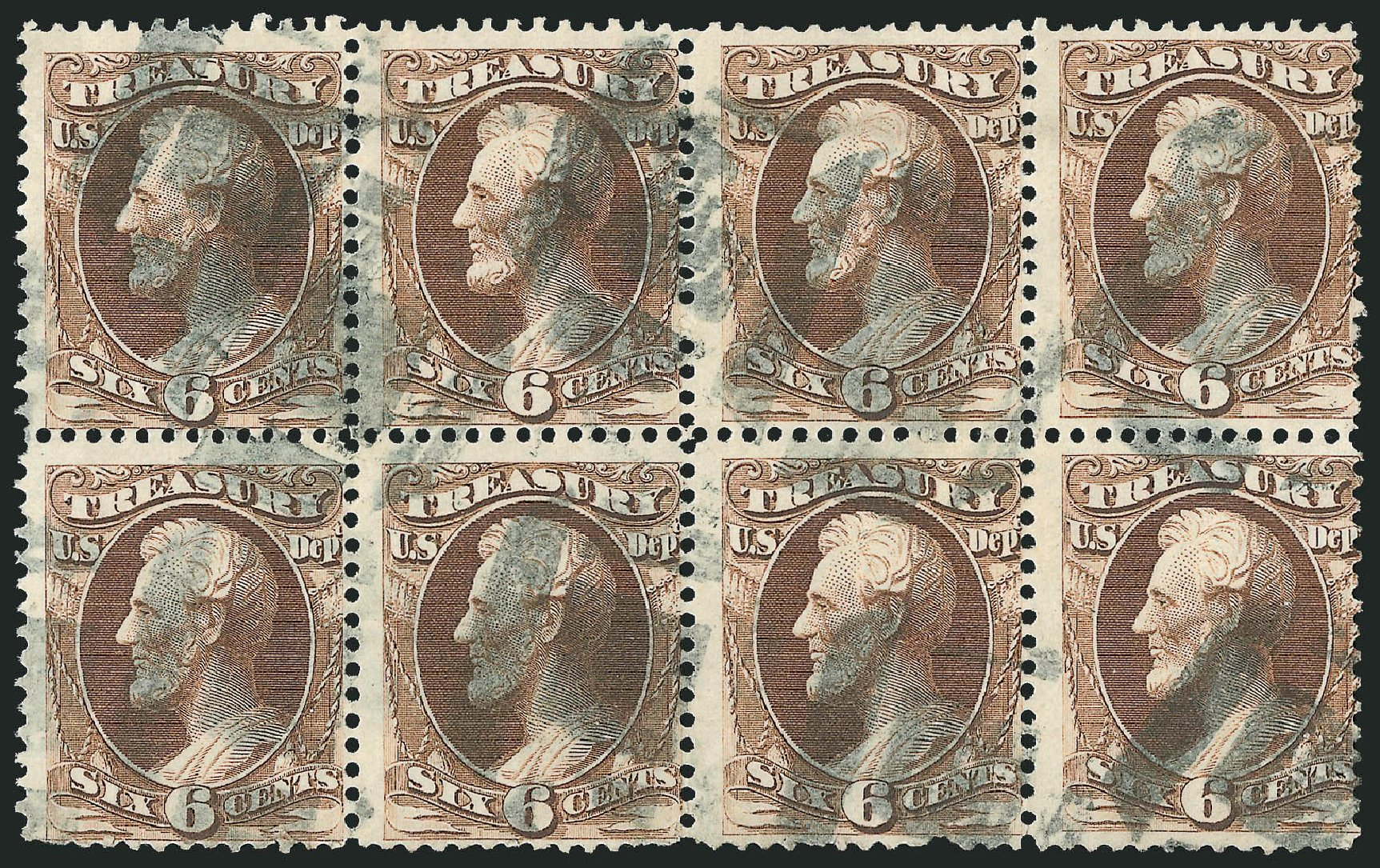 US Stamps Prices Scott Catalog #O75 - 6c 1873 Treasury Official. Robert Siegel Auction Galleries, Nov 2014, Sale 1085, Lot 4120