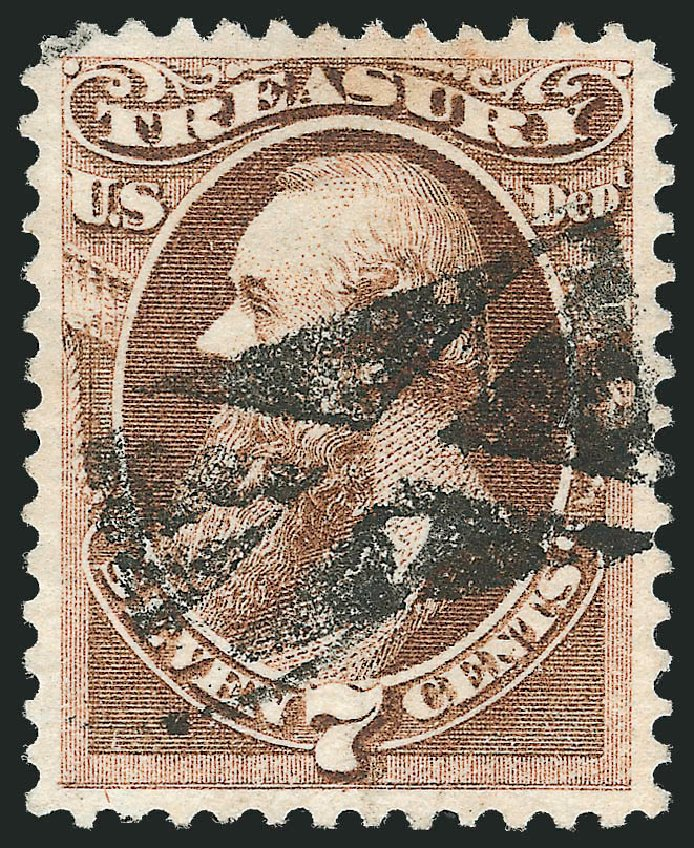 Prices of US Stamp Scott #O76 - 1873 7c Treasury Official. Robert Siegel Auction Galleries, Oct 2012, Sale 1032, Lot 3685