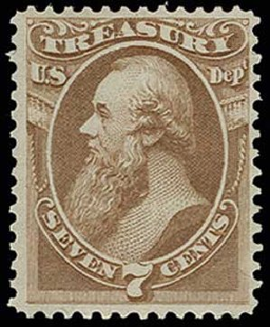 Value of US Stamps Scott Catalogue # O76: 1873 7c Treasury Official. H.R. Harmer, Jun 2013, Sale 3003, Lot 1602