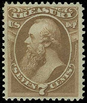 US Stamps Price Scott Cat. # O76 - 7c 1873 Treasury Official. H.R. Harmer, Jun 2015, Sale 3007, Lot 3493