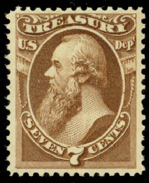 Cost of US Stamp Scott #O76: 1873 7c Treasury Official. Daniel Kelleher Auctions, Jan 2015, Sale 663, Lot 2163