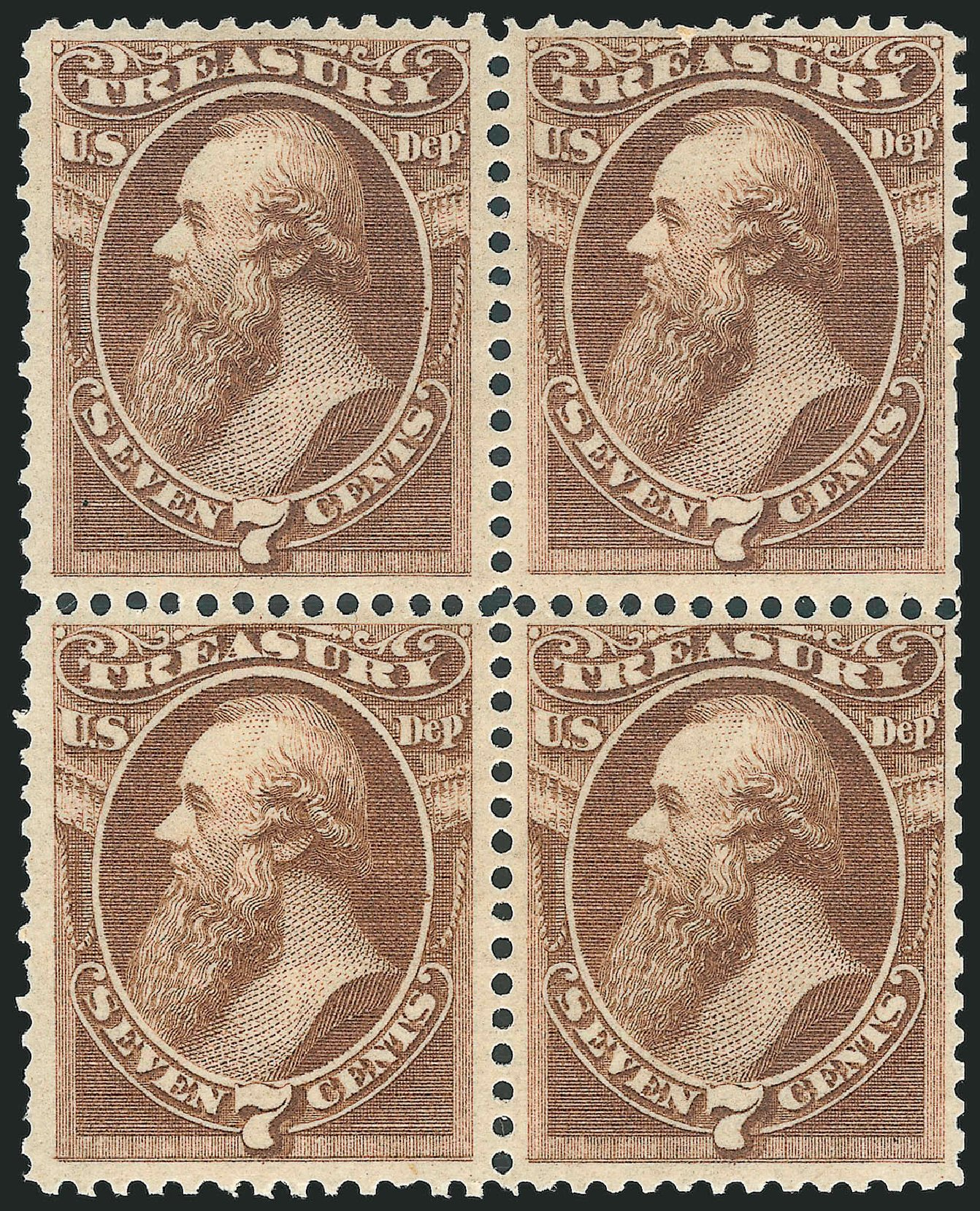 Prices of US Stamp Scott Catalogue #O76 - 1873 7c Treasury Official. Robert Siegel Auction Galleries, Dec 2014, Sale 1090, Lot 1673