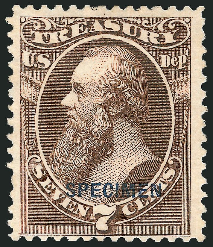 Costs of US Stamps Scott Cat. O76 - 7c 1873 Treasury Official. Robert Siegel Auction Galleries, Mar 2015, Sale 1095, Lot 633