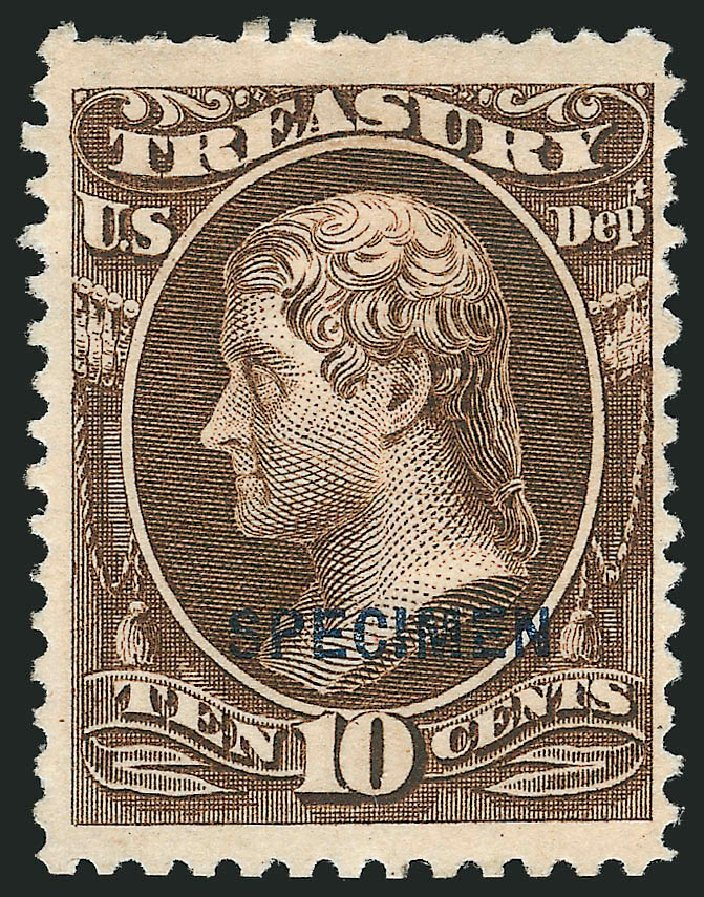 Prices of US Stamp Scott Cat. # O77 - 10c 1873 Treasury Official. Robert Siegel Auction Galleries, Mar 2015, Sale 1095, Lot 634