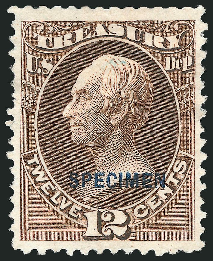 Value of US Stamps Scott #O78: 1873 12c Treasury Official. Robert Siegel Auction Galleries, Mar 2015, Sale 1095, Lot 635