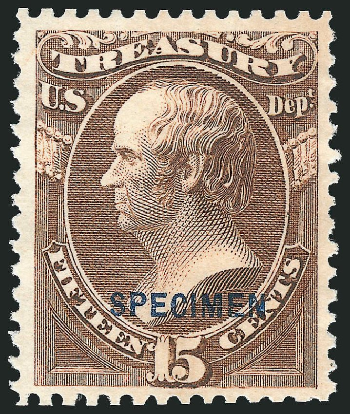 Values of US Stamp Scott Cat. O79: 1873 15c Treasury Official. Robert Siegel Auction Galleries, Mar 2015, Sale 1095, Lot 636