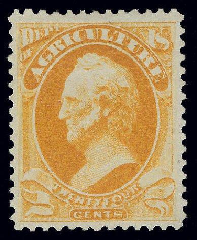 Value of US Stamps Scott O8: 1873 24c Agriculture Official. Matthew Bennett International, Jun 2008, Sale 328, Lot 1213