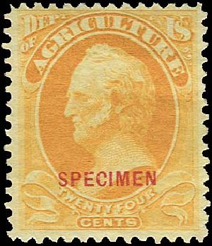 US Stamps Price Scott Catalog #O8: 1873 24c Agriculture Official. Regency-Superior, Aug 2015, Sale 112, Lot 1156