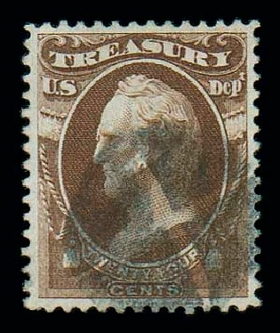 Price of US Stamp Scott O80: 1873 24c Treasury Official. Matthew Bennett International, Dec 2007, Sale 325, Lot 2507