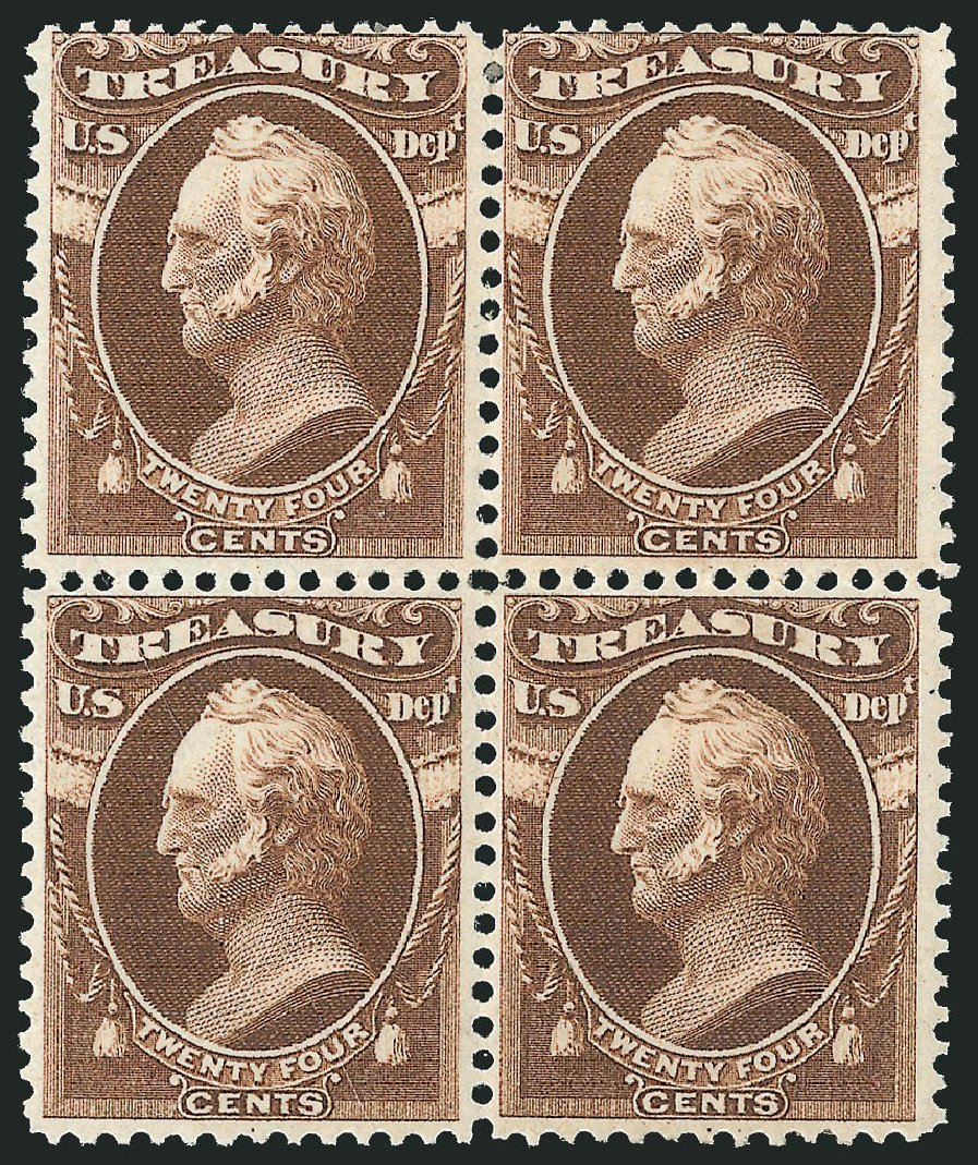 Price of US Stamps Scott # O80 - 1873 24c Treasury Official. Robert Siegel Auction Galleries, Nov 2014, Sale 1085, Lot 4129