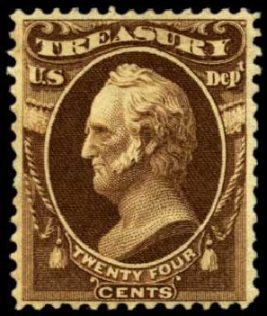 US Stamp Values Scott O80 - 24c 1873 Treasury Official. Harmer-Schau Auction Galleries, Feb 2012, Sale 92, Lot 1341