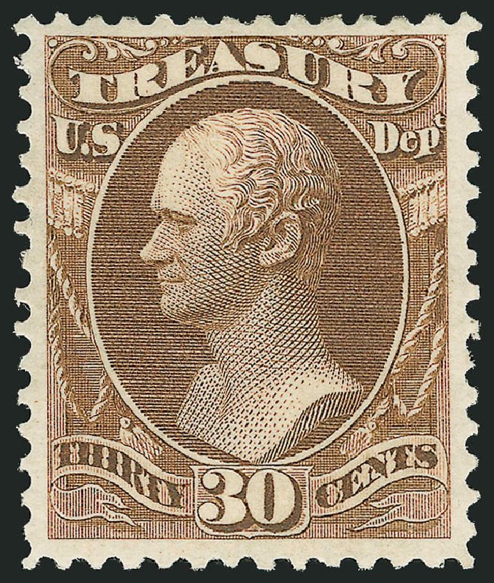 Value of US Stamps Scott #O81 - 30c 1873 Treasury Official. Robert Siegel Auction Galleries, Nov 2014, Sale 1085, Lot 4131