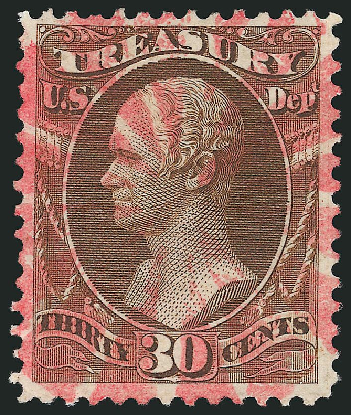 Prices of US Stamps Scott Catalogue #O81 - 30c 1873 Treasury Official. Robert Siegel Auction Galleries, Mar 2014, Sale 1067, Lot 1723