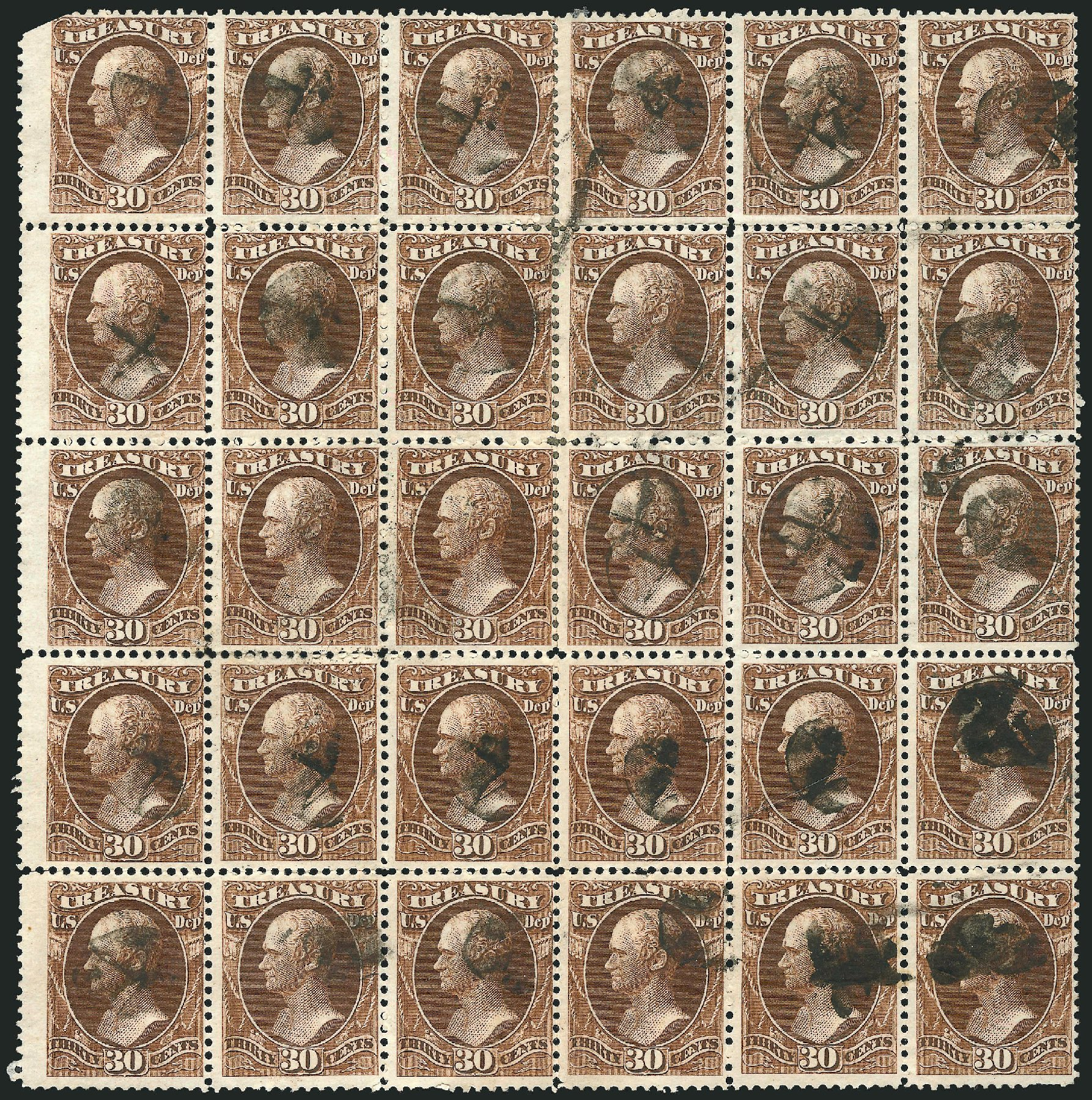 US Stamp Price Scott # O81: 1873 30c Treasury Official. Robert Siegel Auction Galleries, Nov 2014, Sale 1085, Lot 4133