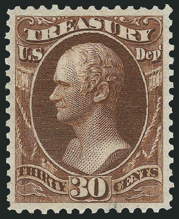 US Stamps Prices Scott Catalogue #O81: 30c 1873 Treasury Official. Robert Siegel Auction Galleries, Oct 2010, Sale 997, Lot 6283
