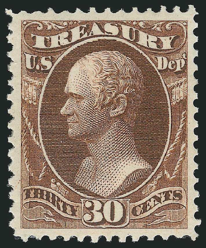 US Stamps Price Scott Catalog #O81: 1873 30c Treasury Official. Robert Siegel Auction Galleries, Feb 2015, Sale 1092, Lot 1466