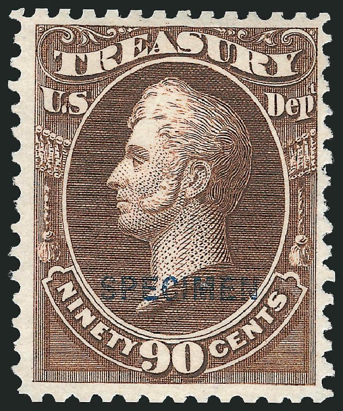 US Stamp Values Scott O82 - 90c 1873 Treasury Official. Robert Siegel Auction Galleries, Mar 2015, Sale 1095, Lot 639