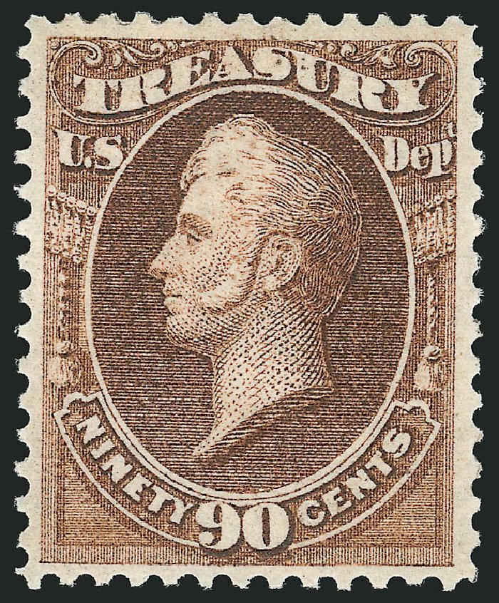 US Stamp Price Scott # O82 - 90c 1873 Treasury Official. Robert Siegel Auction Galleries, Nov 2014, Sale 1085, Lot 4134