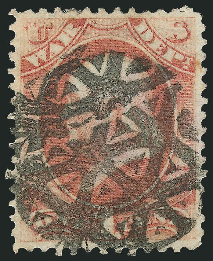 US Stamp Values Scott O83 - 1c 1873 War Official. Robert Siegel Auction Galleries, Dec 2011, Sale 1017, Lot 977