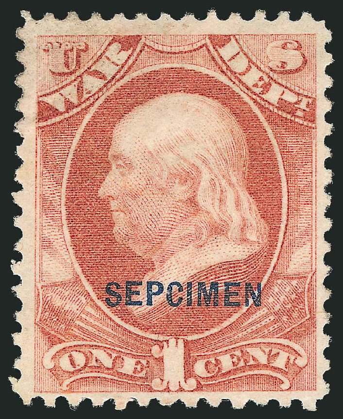 Value of US Stamps Scott Catalogue O83: 1873 1c War Official. Robert Siegel Auction Galleries, Dec 2010, Sale 1003, Lot 5542