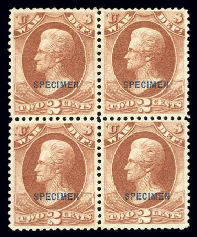 US Stamps Price Scott Catalogue #O84: 2c 1873 War Official. Matthew Bennett International, Sep 2010, Sale 331, Lot 977