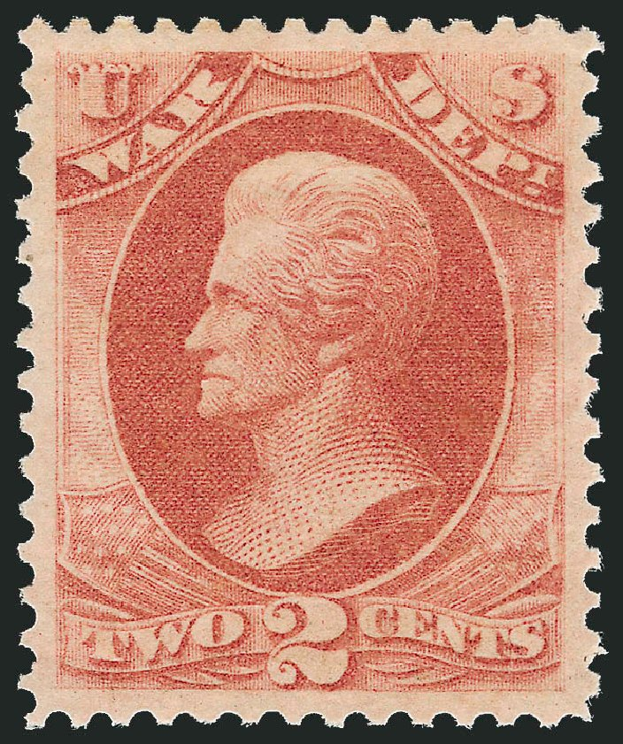 Price of US Stamp Scott Catalogue #O84: 1873 2c War Official. Robert Siegel Auction Galleries, Dec 2011, Sale 1017, Lot 978