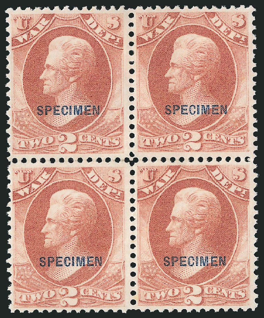 Price of US Stamp Scott Catalogue # O84 - 2c 1873 War Official. Robert Siegel Auction Galleries, Mar 2015, Sale 1095, Lot 660
