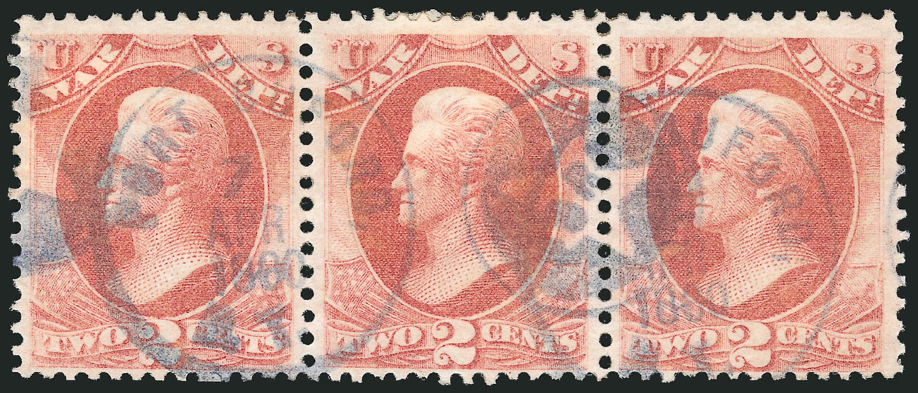 Prices of US Stamp Scott Catalog #O84: 1873 2c War Official. Robert Siegel Auction Galleries, Nov 2014, Sale 1085, Lot 4154