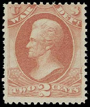 Costs of US Stamps Scott Catalog O84: 2c 1873 War Official. H.R. Harmer, Jun 2013, Sale 3003, Lot 1603