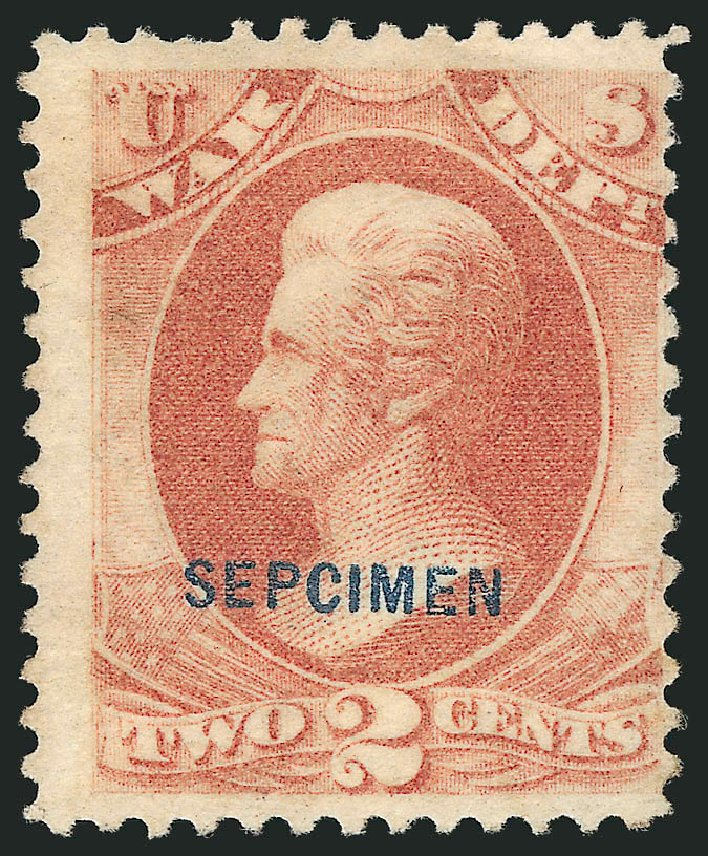 Prices of US Stamps Scott Catalogue O84 - 2c 1873 War Official. Robert Siegel Auction Galleries, Mar 2015, Sale 1095, Lot 663